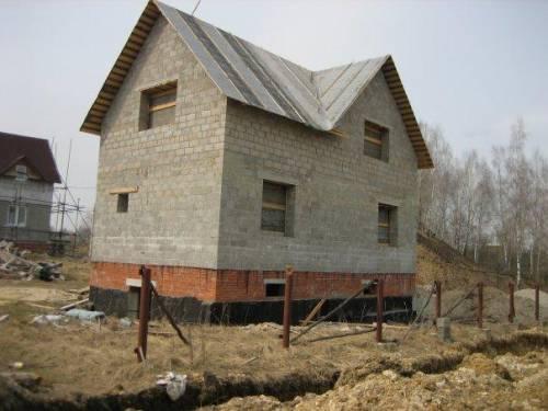 Дом своими руками из шлакоблоков фото