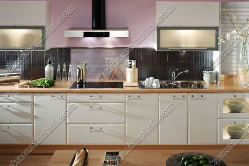 Кухня кремового цвета фото