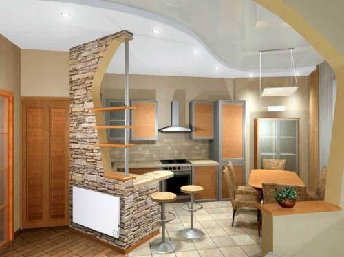 Кухня студия в доме фото