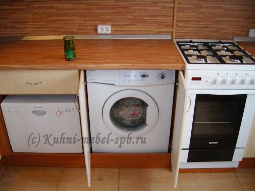 Посудомоечная машина на кухне фото