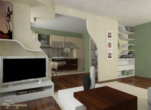 Объединение гостиной и кухни фото