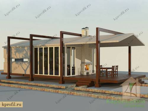 Летняя кухня с террасой фото