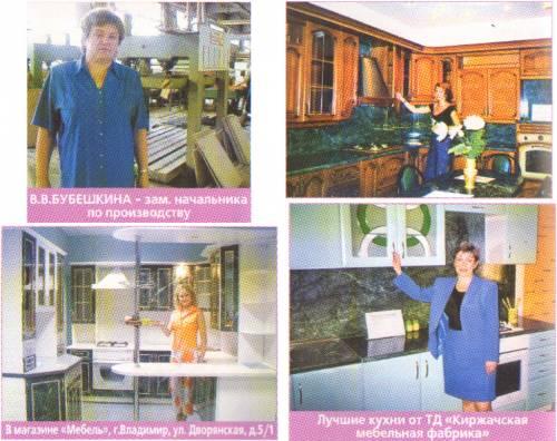Кухни киржачской мебельной фабрики фото
